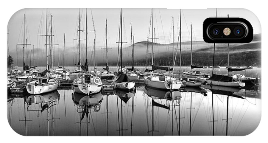 Marina IPhone X Case featuring the photograph Tremblant Marina by Eunice Gibb