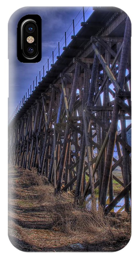 Tressel From The East IPhone X Case featuring the photograph Tressel From The East by David Patterson