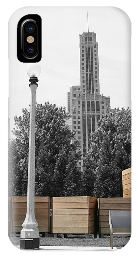 Cityscape IPhone X Case featuring the photograph Tri Towers by Dylan Punke