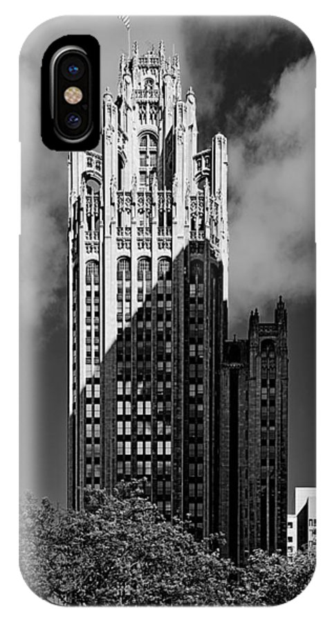 Michigan IPhone X Case featuring the photograph Tribune Tower 435 North Michigan Avenue Chicago by Christine Till
