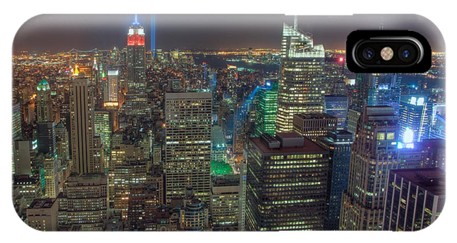 Clarence Holmes IPhone X Case featuring the photograph Tribute In Light Iv by Clarence Holmes
