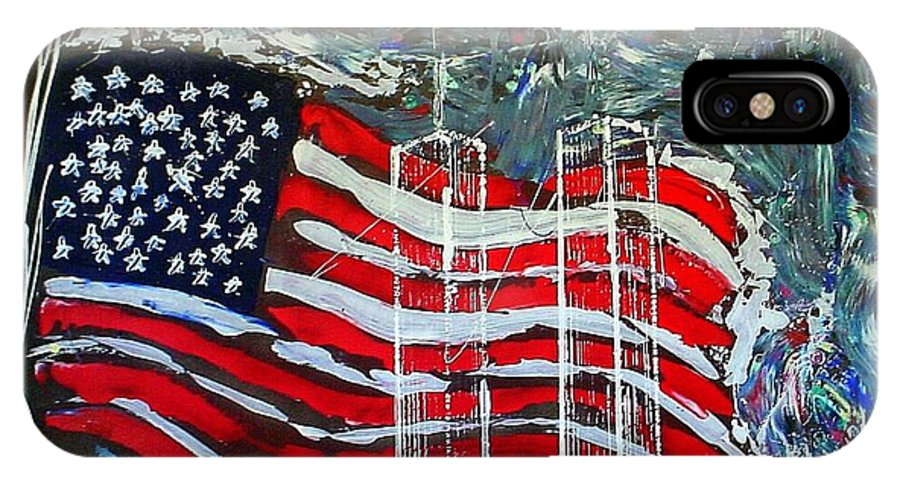 American Flag IPhone Case featuring the mixed media Tribute by J R Seymour
