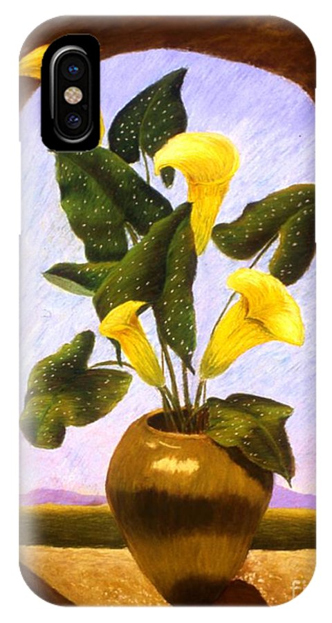 Still Life IPhone X / XS Case featuring the painting Tribute To The Dutch Masters by Mary Erbert