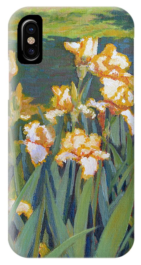 Impressionism IPhone X Case featuring the painting Trimmed In Gold by Keith Burgess