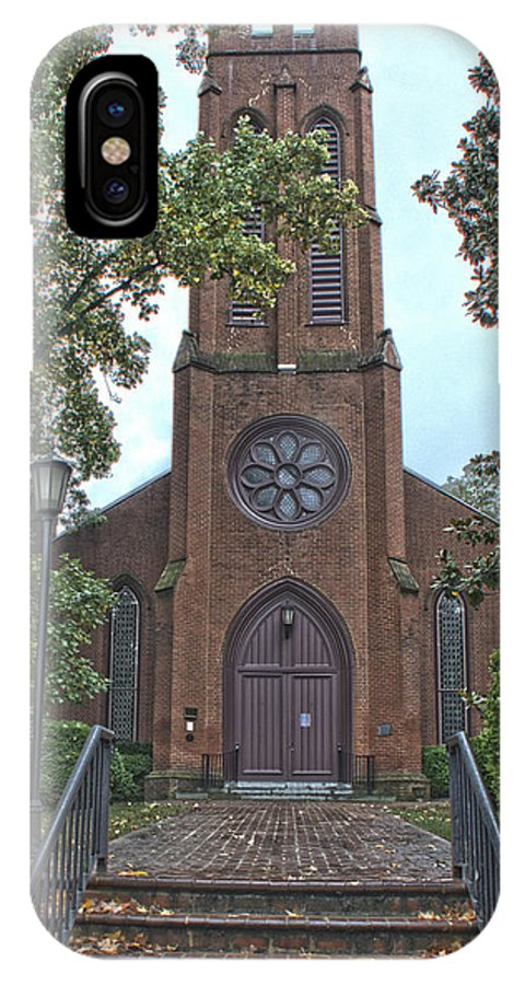 Church IPhone X Case featuring the photograph Trinity Episcopal Church by Gene Myers