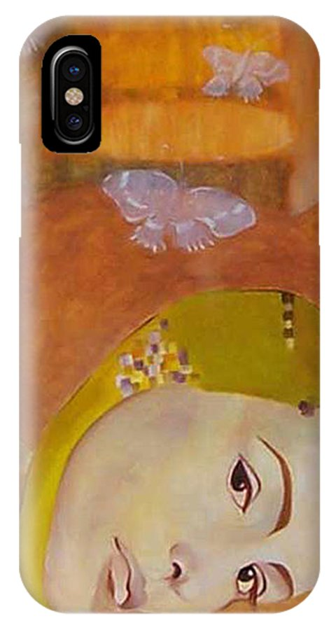 Figurative IPhone X Case featuring the painting Trio by Antoaneta Melnikova- Hillman