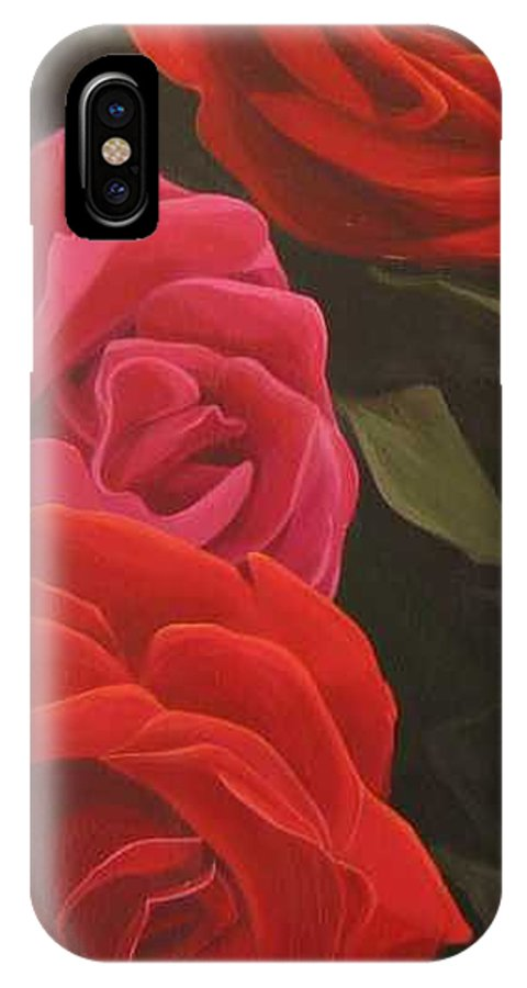 Roses In Italy IPhone Case featuring the painting Trio by Hunter Jay