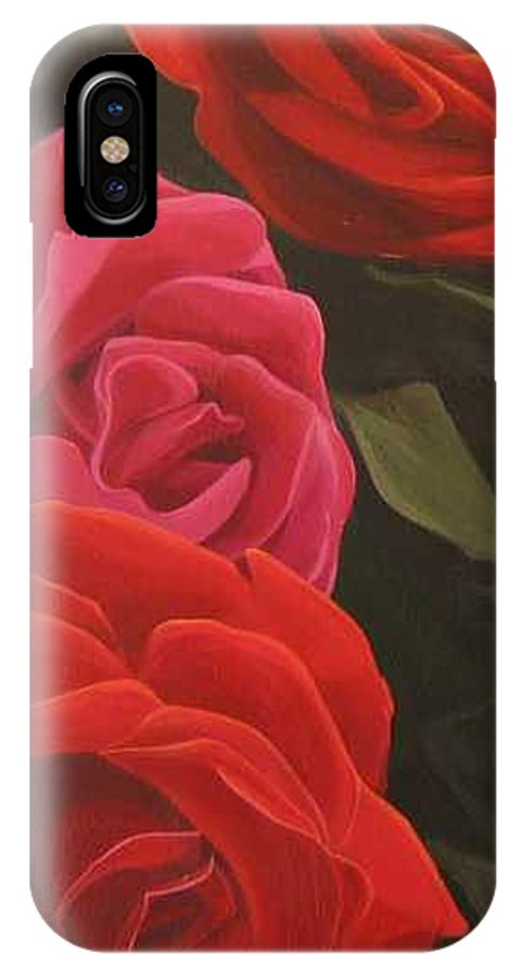 Roses In Italy IPhone X Case featuring the painting Trio by Hunter Jay