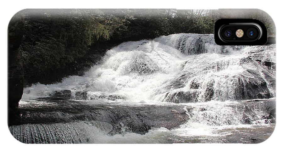 Waterfalls IPhone X Case featuring the photograph Triple Falls by Allen Nice-Webb
