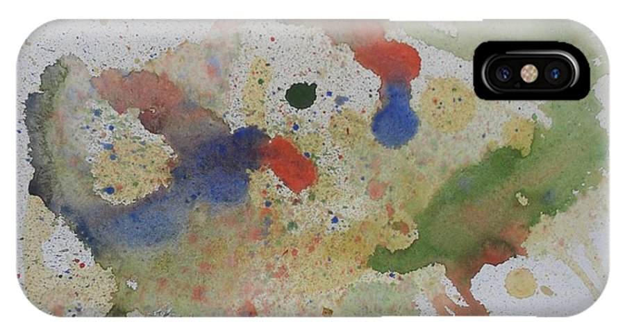 Rooster IPhone X Case featuring the painting Triple Rooster Race by Vicki Housel