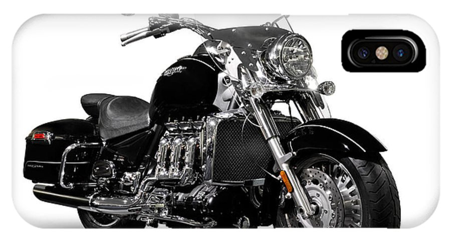Motorcycle IPhone X Case featuring the photograph Triumph Rocket IIi Motorcycle by Oleksiy Maksymenko