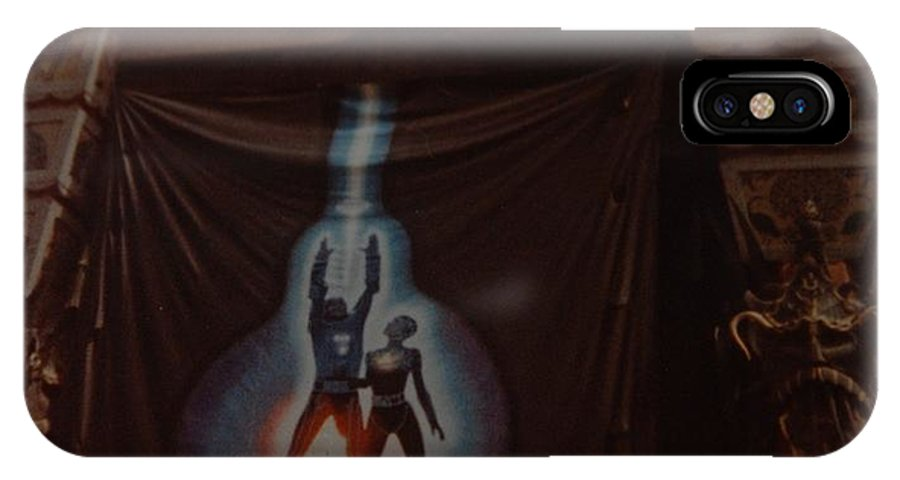 Grumanns Chinese Theater IPhone X / XS Case featuring the photograph Tron by Rob Hans