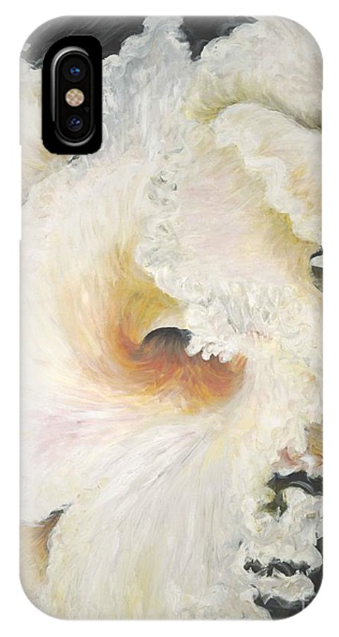 Flower IPhone X Case featuring the painting Tropical Flowers by Nadine Rippelmeyer