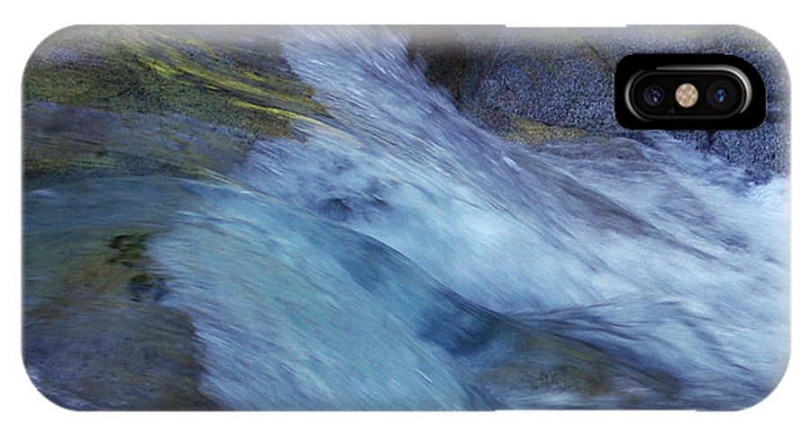 Nature IPhone X Case featuring the photograph Tropical Flowing Waters by Kerryn Madsen- Pietsch