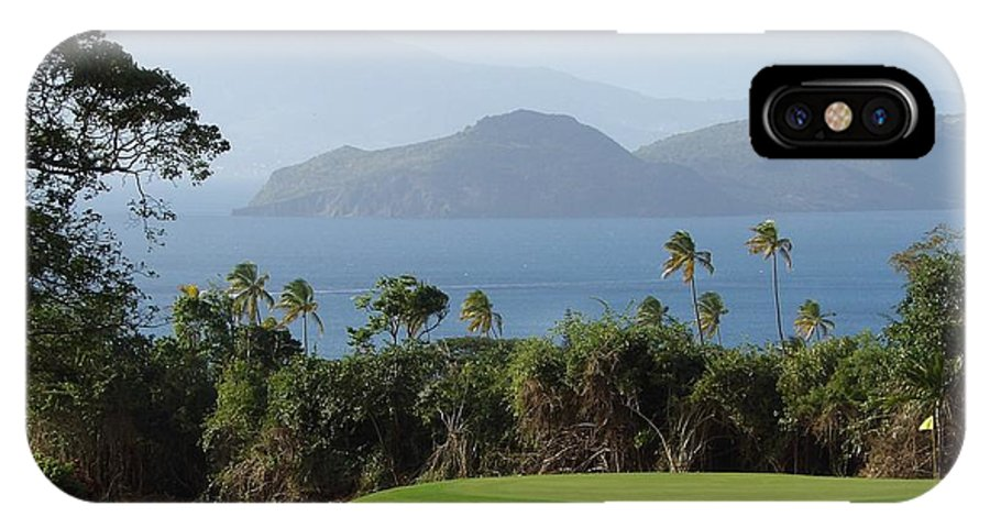 Golf IPhone X Case featuring the photograph Tropical Links - Nevis West Indies by Julie Klopp
