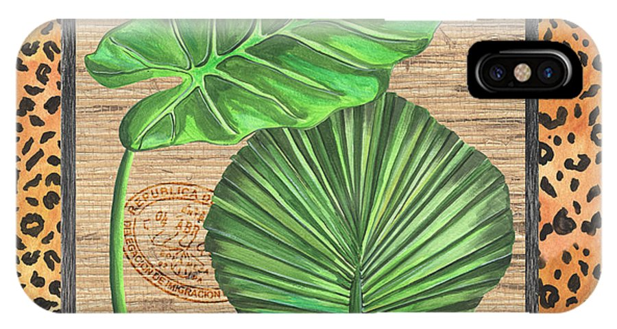 Palm IPhone X Case featuring the painting Tropical Palms 1 by Debbie DeWitt