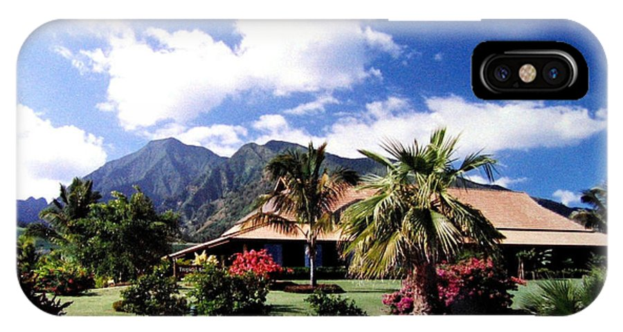 1986 IPhone X Case featuring the photograph Tropical Plantation by Will Borden