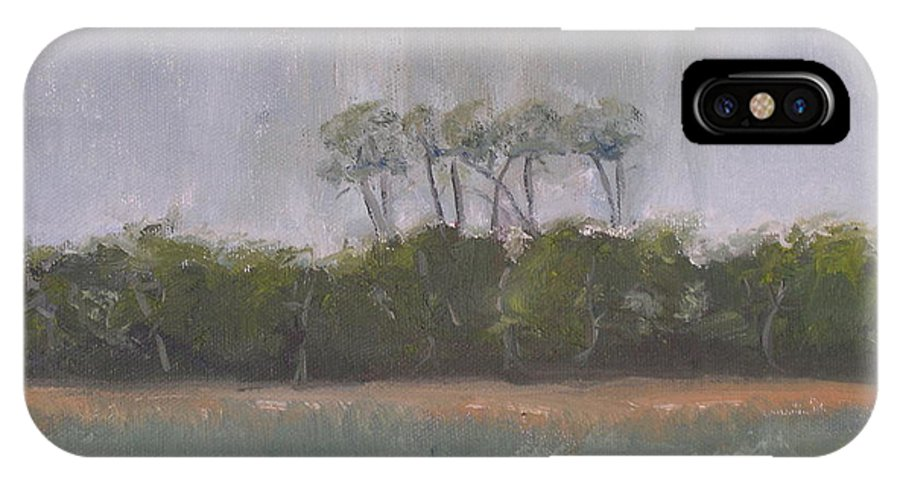 Landscape Beach Coast Tree Water IPhone X Case featuring the painting Tropical Storm by Patricia Caldwell