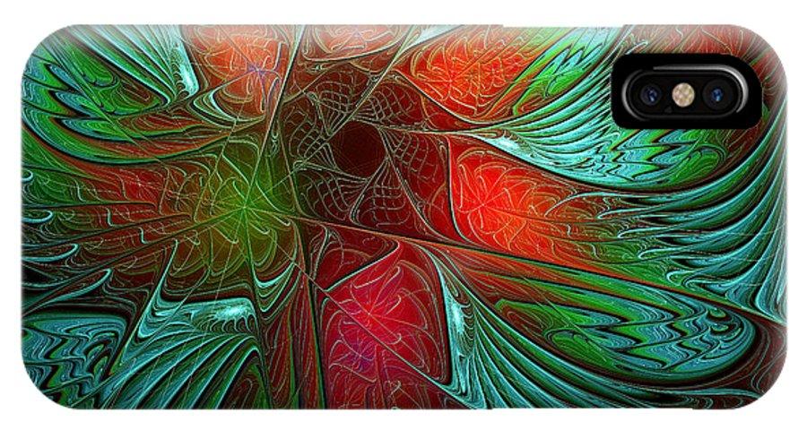 Digital Art IPhone Case featuring the digital art Tropical Tones by Amanda Moore