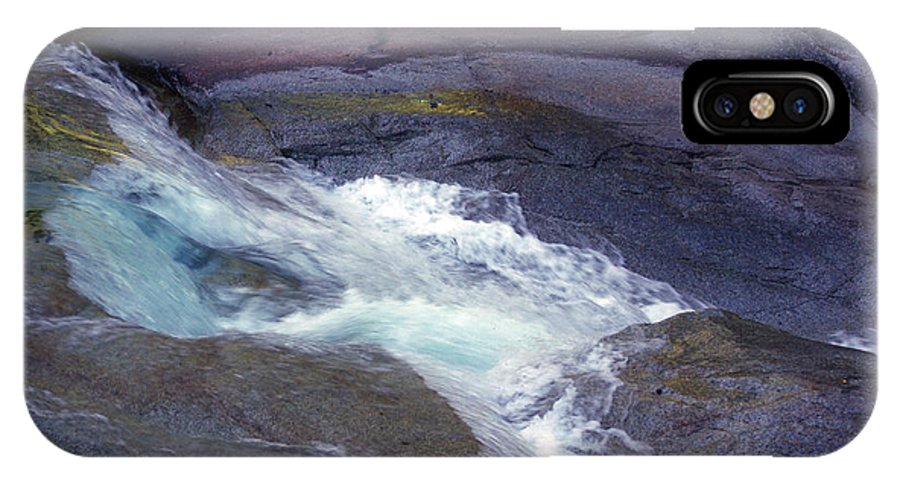 Flowing IPhone Case featuring the photograph Tropical Water Bird Josephine Falls by Kerryn Madsen- Pietsch