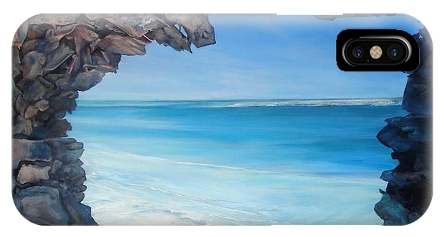 Landscape IPhone X Case featuring the painting Trouee 4 by Muriel Dolemieux