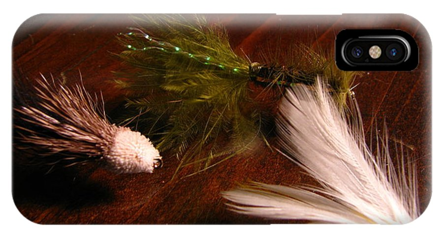 Patzer IPhone X Case featuring the photograph Trout Flys by Greg Patzer