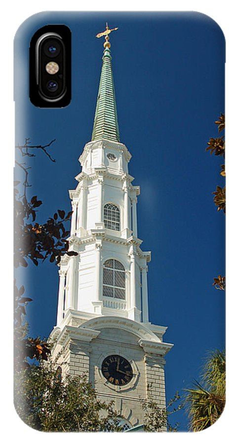 Steeple IPhone X Case featuring the photograph True North - Savannah Steeple by Suzanne Gaff