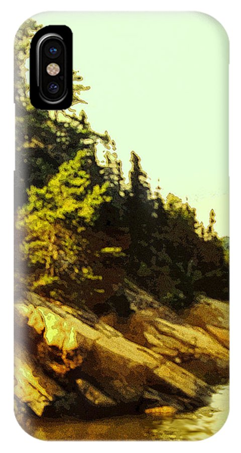 Landscape IPhone X Case featuring the photograph True North Strong And Free by Ian MacDonald
