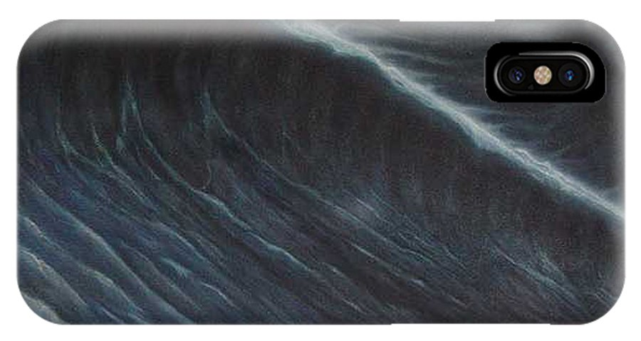 Seascapes IPhone X Case featuring the painting Tsunami by Angel Ortiz