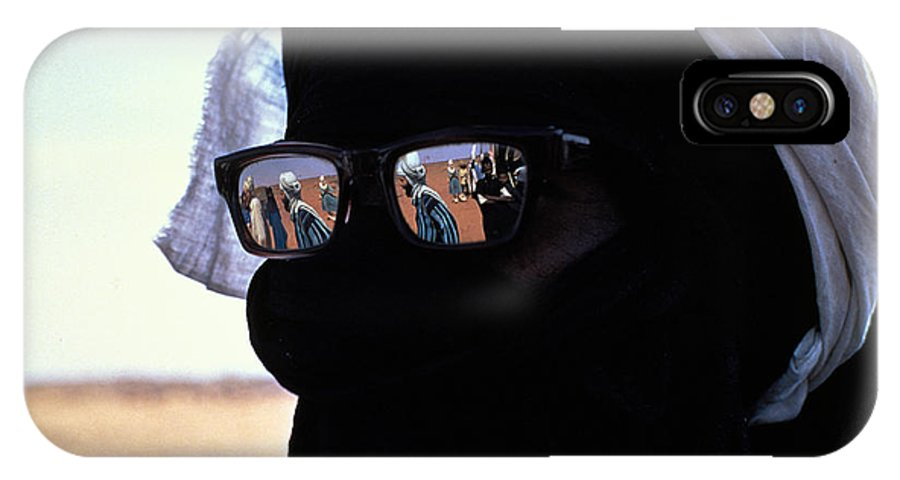 Reflection IPhone X / XS Case featuring the photograph Tuareg With Sunglasses by Carl Purcell
