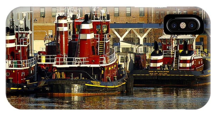Tugs IPhone X Case featuring the photograph Tugs by Faith Harron Boudreau