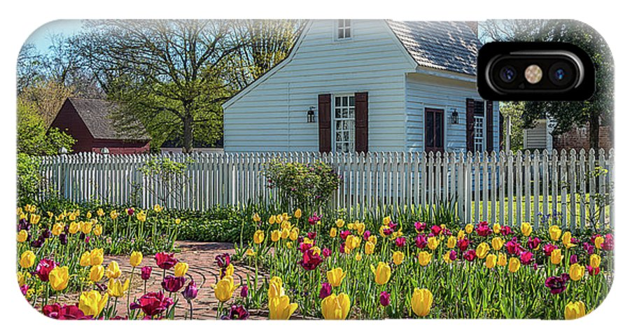 Flowers Tulips Colors Cottage Spring IPhone X Case featuring the photograph Tulip Garden by Wayne Reynolds