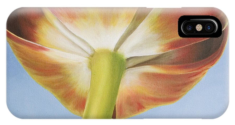 Flower IPhone X Case featuring the painting Tulip by Rob De Vries