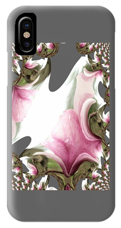 Flower IPhone X Case featuring the photograph Tulip Tree Blossom By Earl's Photography by Earl Eells a