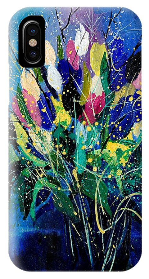 Flowers IPhone Case featuring the painting Tulips 45 by Pol Ledent