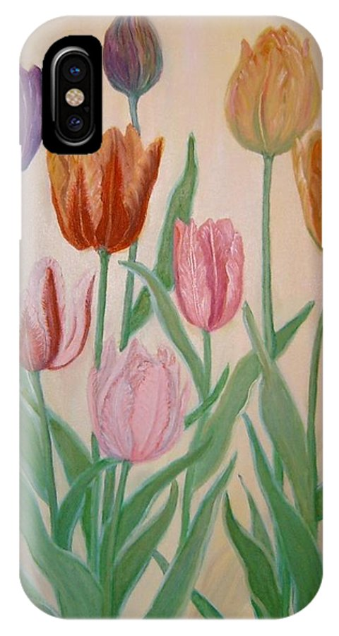 Flowers Of Spring IPhone X Case featuring the painting Tulips by Ben Kiger