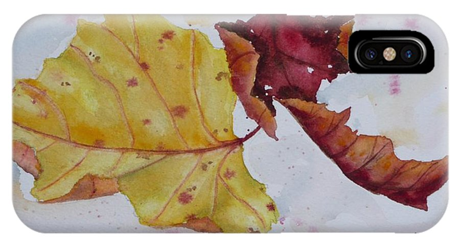 Fall IPhone Case featuring the painting Tumbling by Ruth Kamenev
