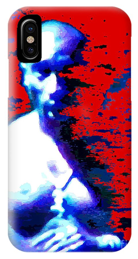 Portraits IPhone X Case featuring the digital art Tupac Unleashed by Walter Oliver Neal