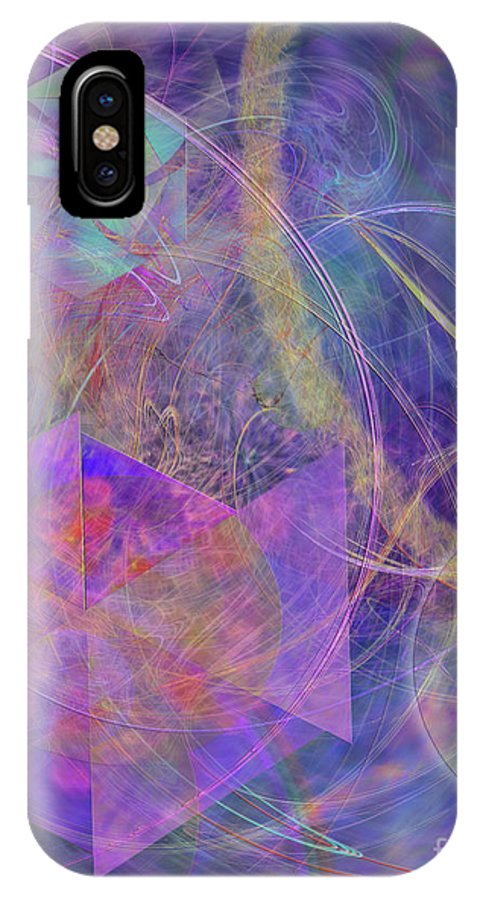 Turbo Blue IPhone X / XS Case featuring the digital art Turbo Blue by John Beck