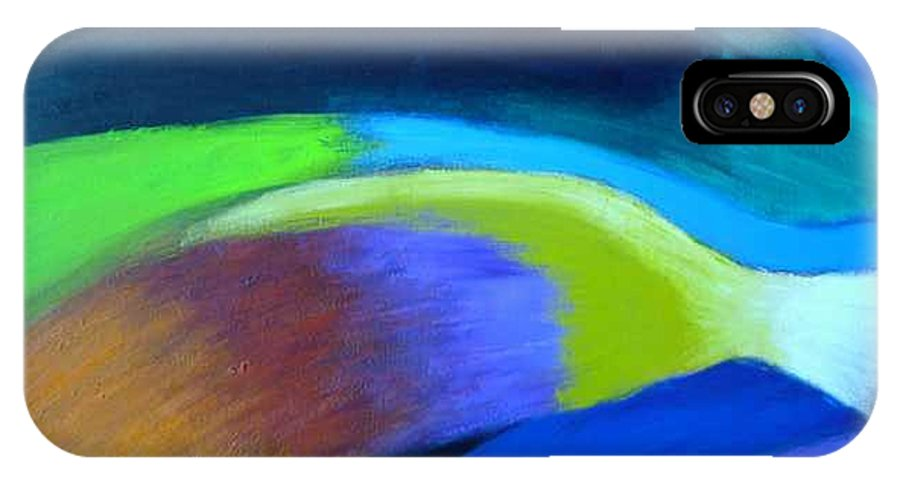 Turbulence IPhone X Case featuring the painting Turbulence by Jan Gilmore