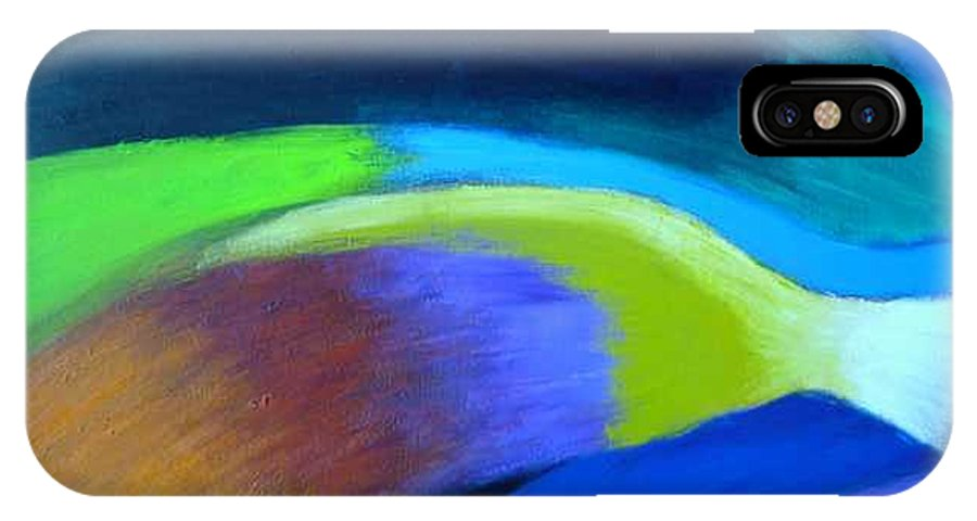 Turbulence IPhone X / XS Case featuring the painting Turbulence by Jan Gilmore