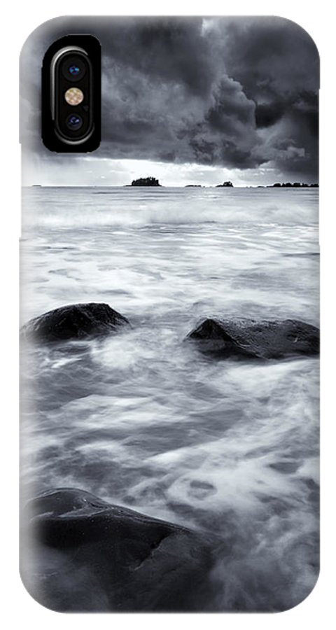 Sitka IPhone X Case featuring the photograph Turbulent Seas by Mike Dawson