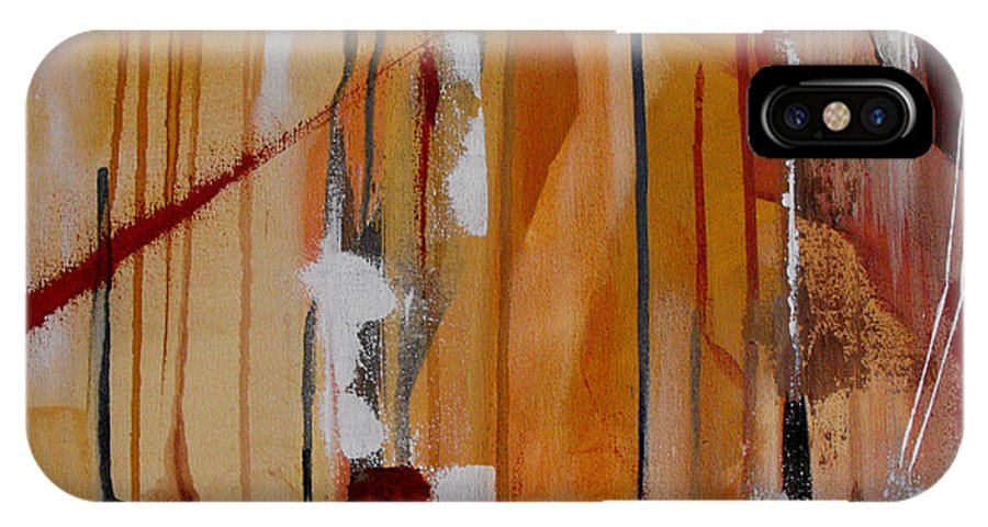 Abstract IPhone X Case featuring the painting Turbulent Times by Ruth Palmer