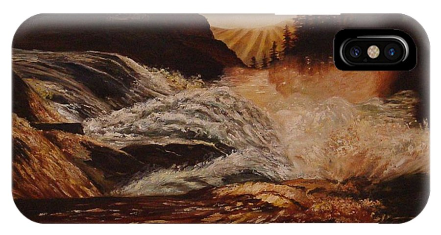Water IPhone X Case featuring the painting Turbulent Waters by Quwatha Valentine