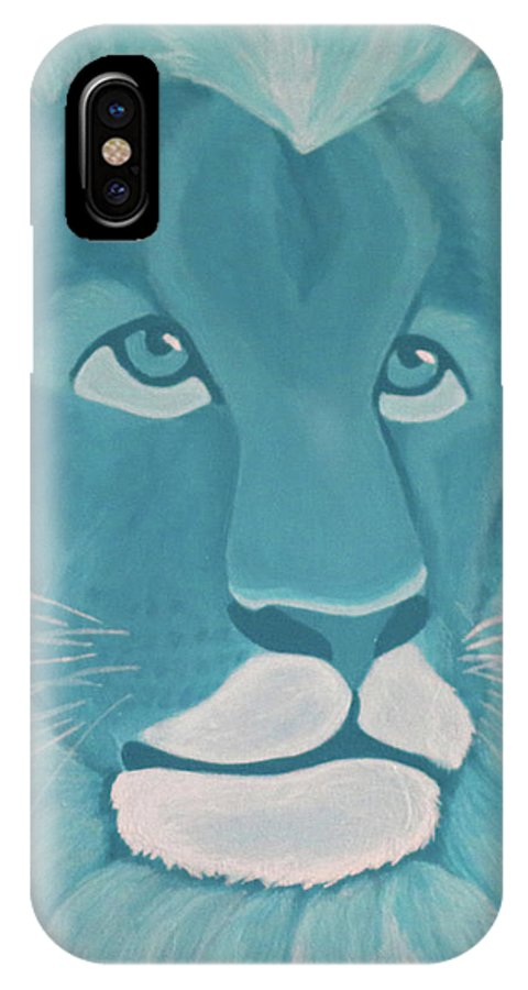 Turquoise Lion IPhone X Case