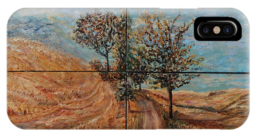 Landscape IPhone Case featuring the painting Tuscan Journey by Nadine Rippelmeyer