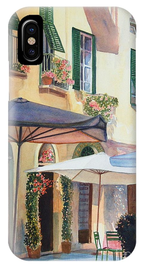Tuscan IPhone X Case featuring the painting Tuscan Sunlight by Ann Cockerill
