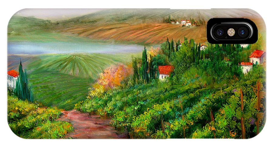 Wine IPhone Case featuring the painting Tuscan Vista by Sally Seago