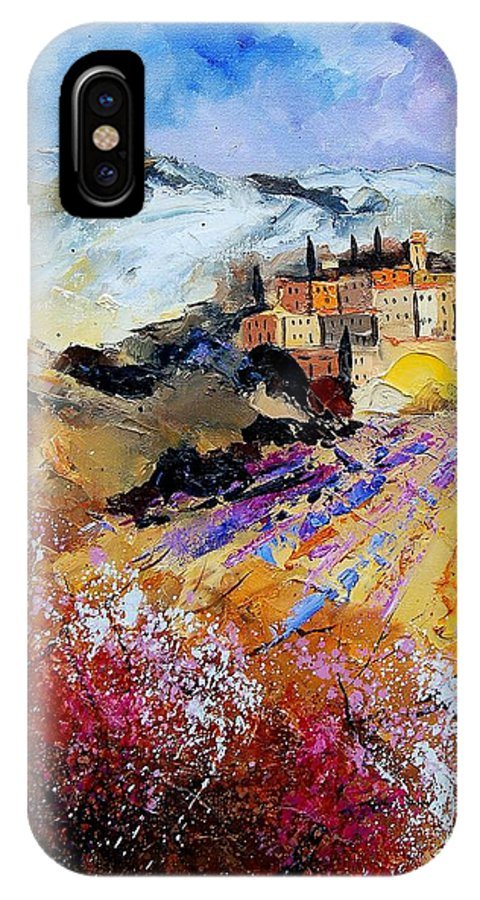 Provence IPhone X Case featuring the painting Tuscany 56 by Pol Ledent