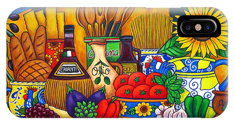Still Life IPhone X / XS Case featuring the painting Tuscany Delights by Lisa Lorenz